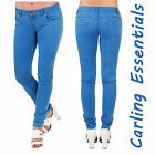 Womens Ladies Stretchy Skinny Cotton Slim fit High Waist Jeans Trousers Women