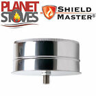 Stainless Steel Shieldmaster Tee Cap With Drain For Twin Wall Flue Pipe