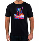 Star Wars T-Shirt - Boba Fett Hunter Paint Effect Rouge One Mens Black T-Shirt