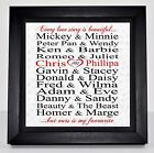Personalised Valentine's Box Frame Canvas Print Engagement Wedding Gift Present