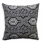 AL252a White Black Geometric Cotton Canvas Pillow Case/Cushion Cover Custom Size