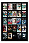James Bond 007 Movie Including Spectre Poster Framed Cork Pin Board With Pins £54.95 GBP