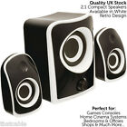 QUALITY Compact Active Surround Sound Speaker System -TV/Laptop Gaming Phone Kit New