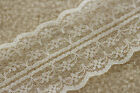 IVORY CREAM Bertie's Bows 40mm Double Scalloped Edge Vintage Style Flat Lace