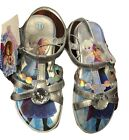 NEW DISNEY FROZEN YOUTH GIRLS SANDALS WITH RHINESTONE (SILVER)VARIOUS SIZE