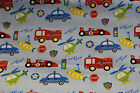 racing cars fire engines helicopter / material 100% cotton fabric 110cm wide