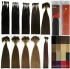 """Women Beauty 20""""Stick-tipped Straight Remy Human Hair Extensions 100s 13Colors"""