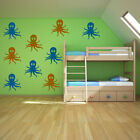 Octopus Wall Sticker Pack Under The Sea Wall Decal Bathroom Kids Home Decor