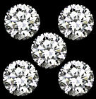 5 x Swarovski Pure Brilliance Cut Cubic Zirconia 3mm - 4mm Diameter CZ