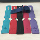 New! 6 Colors PU Luggage Tag Name Bag Card Holder Travel Suitcase Luggage Tags