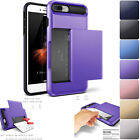 For iPhone 7 /Plus Case Protective Wallet ID Credit Card Holder Shockproof Cover