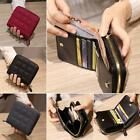 Fashion PU Leather Wallet Mini Short Bifold Zipper Purse For Women Lady New S