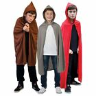 Kids Childs Boys Girls Book Week Fancy Dress Costume Accessory Cape Robe Cloak
