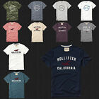 cream shirts for men - NWT HOLLISTER Printed And Applique Logo Graphic Men T Shirt Tee By Abercrombi​e