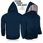Rain Jacket Hooded Outdoor Running Light-Weight Long Sleeve Navy Blue Multi Use
