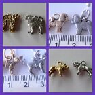 Spoodle Cavoodle Bulldog Chihuahua Bichon Frise pewter dog breed charm gold silv