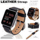 Apple Watch Strap Band Sport iWatch Genuine Leather Secure Metal Clasp For Apple