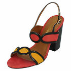 LADIES ANNE MICHELLE ORANGE OPEN TOE SANDALS WITH SLINGBACK STRAP F1646