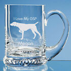 German Shorthaired Pointer Dog Lover Gift Personalised Engraved Glass Tankard