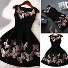 Women Summer Casual Sleeveless Butterfly Evening Party Cocktail Mini Dress New