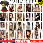"""50S 7A Premium 16""""-22"""" 1G Pre Bonded Remy Nail U Tip Human Hair Extensions UK"""