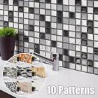 3D Mosaic Tile Modern Wallpaper Foil Sticker Bathroom Kitchen Home Decor DIY