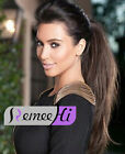 "18""22"" High Straight  Ponytail 100% Remy Human Hair many colors selectable 80g"