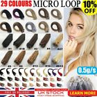 "16"" 18"" 20"" 22"" 24"" 100% Remy Loop Micro Ring Human Hair Extensions 200s 100s UK"