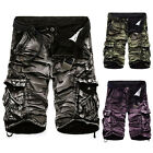 Multi-pocket Military Cargo Pants Casual Men's Camouflage Combat Shorts Pants