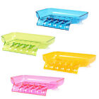Creative Bathroom Kitchen Soap Holder Drainage Soapbox Box Tray Water Drain New