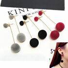 UP Fashion Women Long Dangle Drop Earrings Fur PomPom Ball Earrings Ear Jewelry
