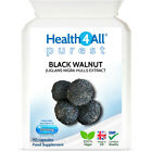 Health4All Black Walnut Hulls 2000mg Capsules | PARASITE & CANDIDA DETOX CLEANSE