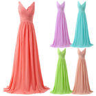 Women Long Chiffon Bridesmaid Formal Evening Gowns Cocktail Prom Maternity Dress