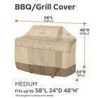 """BBQ Gas Grill Cover 58 64 70"""" Barbecue Heavy Duty Waterproof Outdoor Weber Lower"""