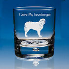 Leonberger Dog Lover Gift Personalised Hand Engraved Whisky Glass  Birthday Gift