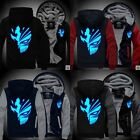 Anime BLEACH Kurosaki ichigo Sweatshirts Hoodie Luminous Men Fleece Jacket hirts