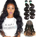8A Pre Plucked 360 Lace Band With Wig Cap +2 Pcs/100g Body Wave 100% Human Hair