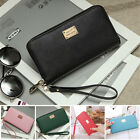 USA Women Leather Wallet Lady Card Coin Holder Long Purse Clutch Zipper Bag WR