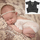 Newborn Infant Baby Girls Floral Lace Romper Bodysuit Jumpsuit Clothes Outfit