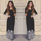 Fashion Women Lace Boho Long Sleeve Party Evening Cocktail Maxi Long Dress U.s.a