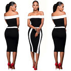 Fashion Women Casual Bandage short Sleeve Cocktail Party Evening Bodycon Dress