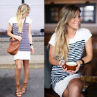 Women Casual Summer Short Mini Dress Cocktail Party Evening Bodycon Short Sleeve