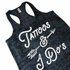 Tattoos And I Do's Cute Wedding Tank Top Engagement Party Gift From Bridesmaid
