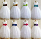 White black red fuchsia pink blue green baby toddler flower girl party dress