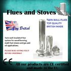"""6"""" Twin wall insulated flues double wall flue pipe silver 6 inch 150mm stoves"""