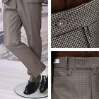 Get Up Mod Retro Frogmouth Pocket Slim Fit Dogtooth Trousers Gold