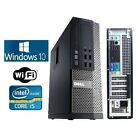 Dell OptiPlex 790 990 Intel i5 Quad SFF DT Windows 7 10 250G 4GB 8GB WiFi PC