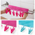 2Pc Travel Foldable Magic Cloth #A Clothing Coat Hanger Drying Rack With Clips