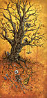 Tree Of Life by David Lozeau Dead Skeleton w Guitar & Crows Canvas Art Print