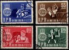 ROMANIA 1963 AGRICULTURE FARMING TRACTOR GRAPE SET OF 4 STAMPS USED